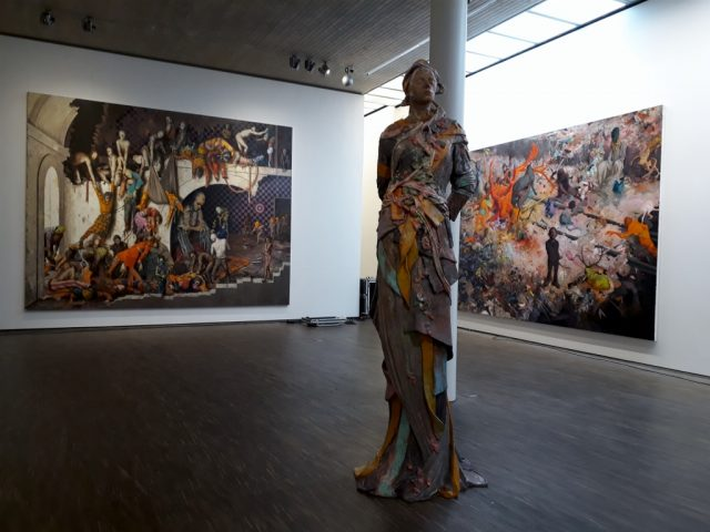 """Jonas Burgert, Ausstellung """"Beyond"""", me Collectors Room. Foto © Urszula Usakowska-Wolff"""