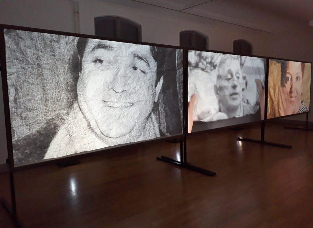 Nasan Tur, Back and Forth (Detail), Videoinstallation, Schwartzsche Villa, 2019. Foto © Urszula Usakowska-Wolff