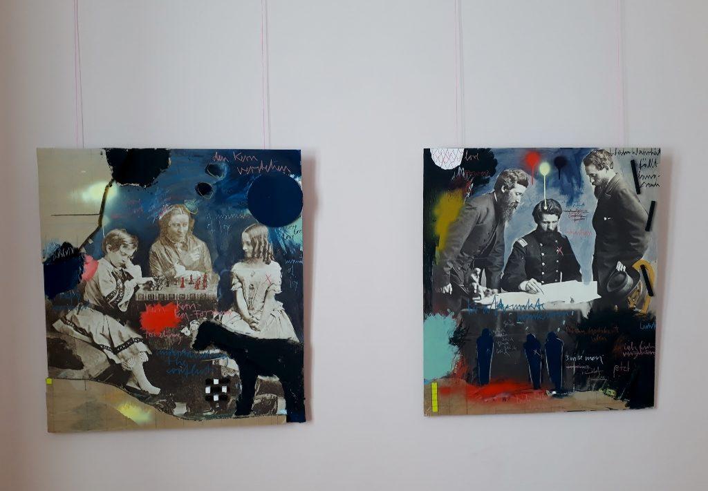 """Rebecca Raue, """"Den Kern verstehen"""" (links) und """"Kraftpunkte markieren"""", 2019. Foto © Urszula Usakowska-Wolff"""